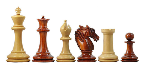 4.4 Inch Victoria Series Padouk & Boxwood Chess Pieces - The Chess Store