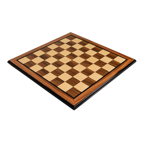 Bubinga Rosewood and Maple Chess Board - The Chess Store