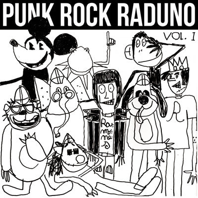 VARIOUS ARTISTS Punk Rock Raduno Vol. 1           LP, punk, recess ops, distro, distribution, punk distribution, wholesale, record album, vinyl, lp, It's Alive Records