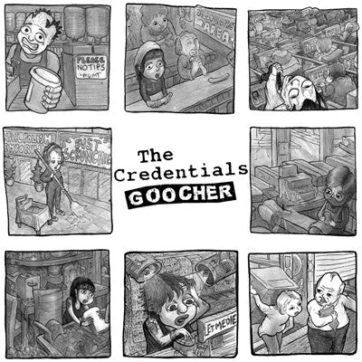 CREDENTIALS, THE Goocher                          LP, punk, recess ops, distro, distribution, punk distribution, wholesale, record album, vinyl, lp, It's Alive Records