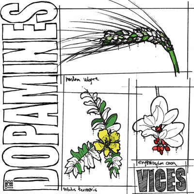 DOPAMINES, THE Vices                              LP, punk, recess ops, distro, distribution, punk distribution, wholesale, record album, vinyl, lp, It's Alive Records