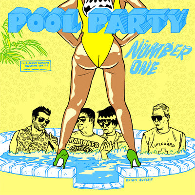 POOL PARTY Number One                             CD, punk, recess ops, distro, distribution, punk distribution, wholesale, record album, vinyl, lp, It's Alive Records