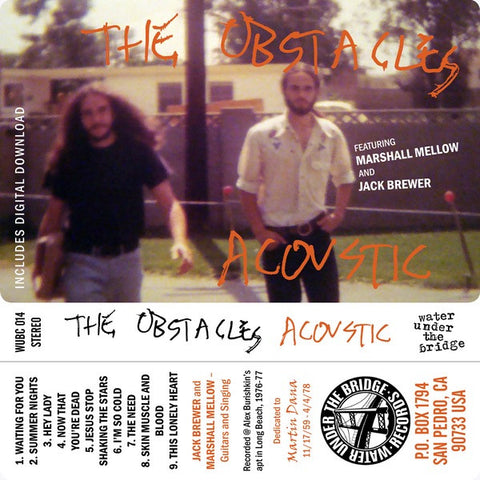 THE OBSTACLES Acoustic                            CASS