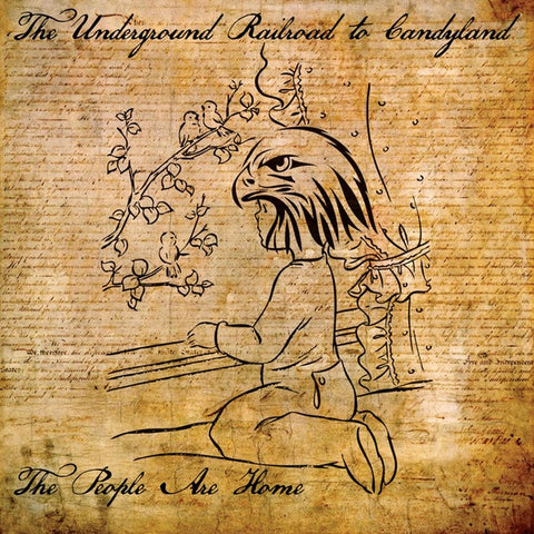 UNDERGROUND RAILROAD TO CANDYLAND The People Are Home     LP, punk, recess ops, distro, distribution, punk distribution, wholesale, record album, vinyl, lp, Recess Records