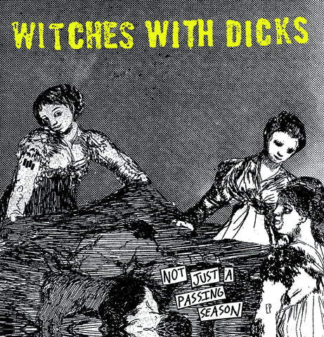 "Witches With Dicks- ""Not Just A Passing Season"" 1-Sided 12"", punk, recess ops, distro, distribution, punk distribution, wholesale, record album, vinyl, lp, Dead Broke Rekerds"