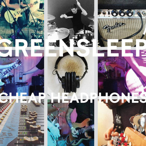 "GREENSLEEP- ""Cheap Headphones"" LP, punk, recess ops, distro, distribution, punk distribution, wholesale, record album, vinyl, lp, Dead Broke Rekerds"