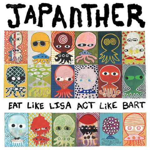 JAPANTHER Eat Like Lisa, Act Like Bart            LP, punk, recess ops, distro, distribution, punk distribution, wholesale, record album, vinyl, lp, Recess Records