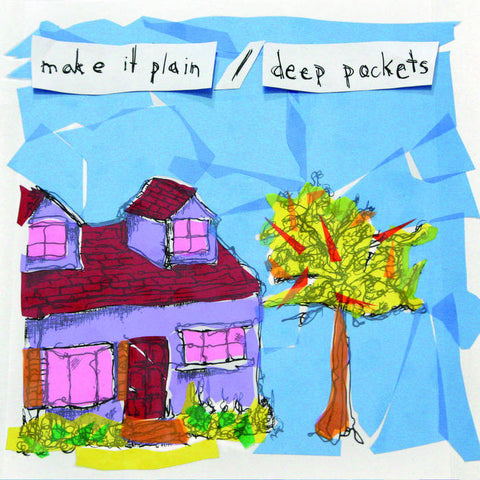 "Make It Plain/Deep Pockets- Split EP (7""), punk, recess ops, distro, distribution, punk distribution, wholesale, record album, vinyl, lp, Dead Broke Rekerds"