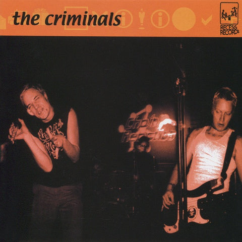 CRIMINALS The Criminals                           CD, punk, recess ops, distro, distribution, punk distribution, wholesale, record album, vinyl, lp, Recess Records