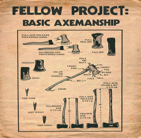 "Fellow Project- ""Basic Axemanship"" EP, punk, recess ops, distro, distribution, punk distribution, wholesale, record album, vinyl, lp, Dead Broke Rekerds"