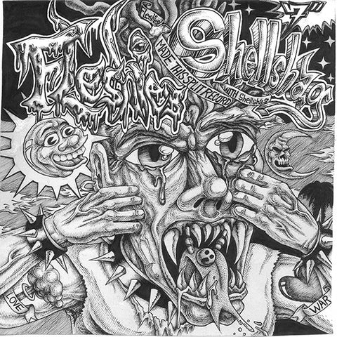 "FLESHIES / SHELLSHAG - Split (7"" EP)"