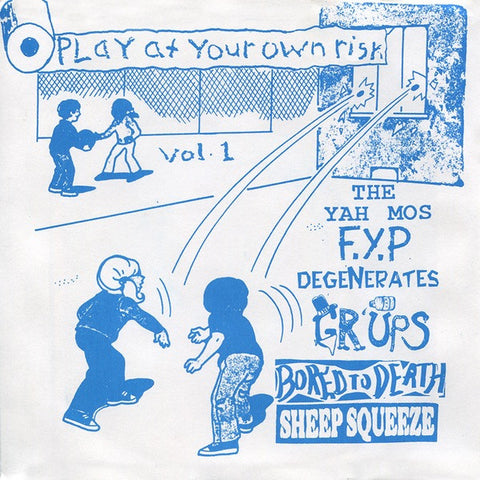 "V/A  PLAY AT YOUR OWN RISK VOL. 1                 7"", punk, recess ops, distro, distribution, punk distribution, wholesale, record album, vinyl, lp, Recess Records"