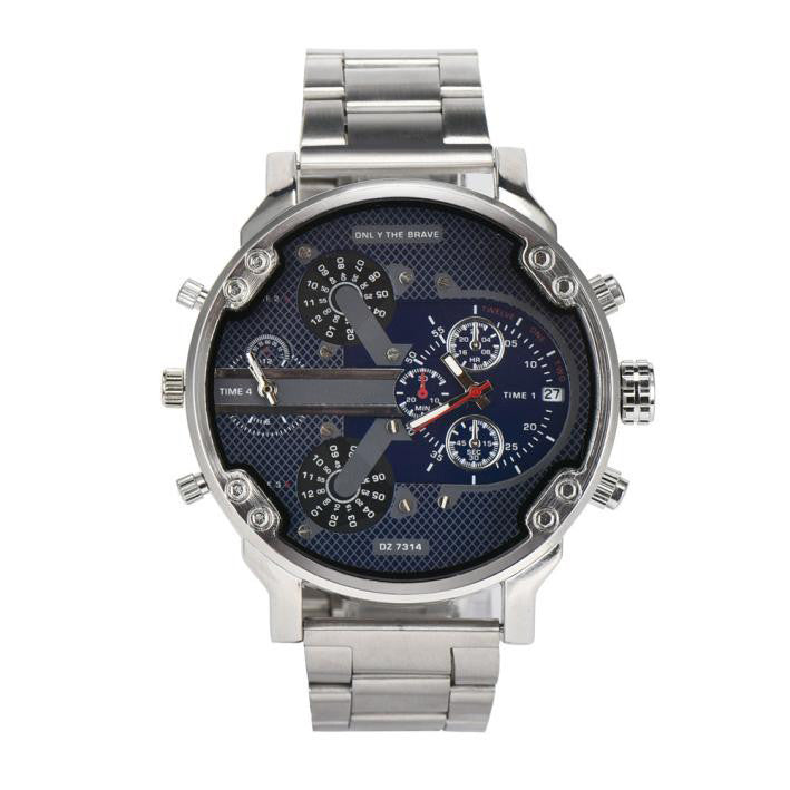 Men's Fashion Luxury Watch Stainless Steel Sport Analog Quartz Mens Wristwatches - WS Direct