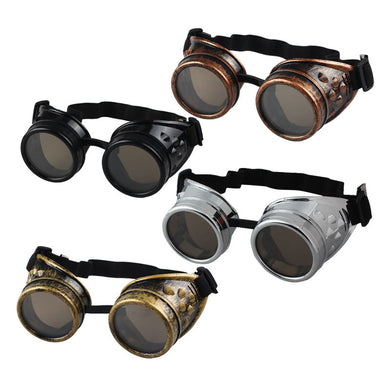 FREE! While Supplies last... Vintage Style Steampunk Goggles Welding Punk Gothic Glasses Cosplay - WS Direct