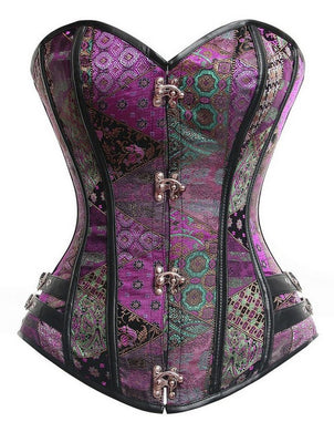 TOPMELON Women Vintage Steampunk Sexy Push Up Shapewear Overbust Corset Bustier - WS Direct
