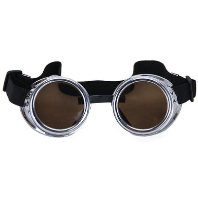 Vintage Rustic Cyber Goggles Steampunk Welding Goth Cosplay Photos Prop - WS Direct