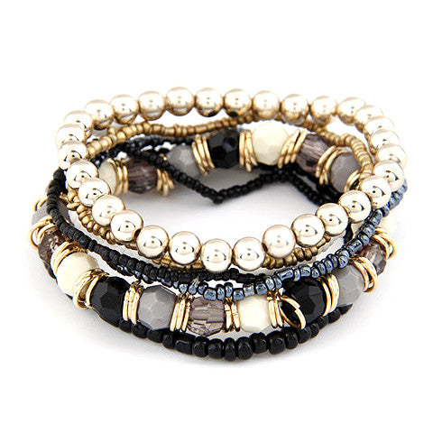 Cleopatra Geometric Beads Bracelet - WS Direct