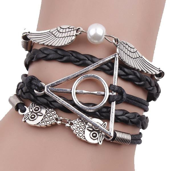 Black Deathly Hallows Bracelet - WS Direct