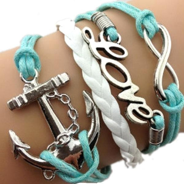 Anchor Love Infinity Bracelet - WS Direct