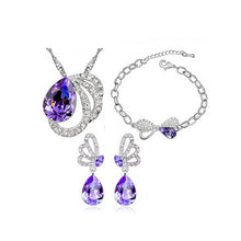 Butterfly Crystal Pendant Set - WS Direct