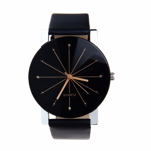 Classic Black Leather Women's Watch - Wow Great Gifts