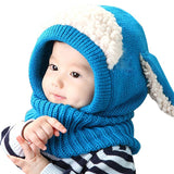 Baby Winter Hat & Built-in Scarf - Wow Great Gifts