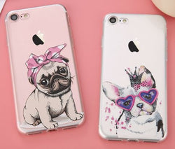 Bulldog, Pug and Cat Lovers iPhone Case - Wow Great Gifts