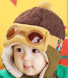 Cool Pilot Warm Toddlers Winter Hat - Brown - Wow Great Gifts