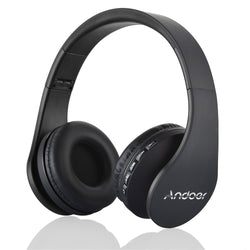 Digital 4-in-1 Wireless Bluetooth EDR Headphone Headset w/ Built-in Microphone, Memory Card and FM Radio
