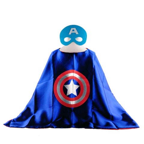 Superman, Spiderman, Batman, Captain America & Other Superhero Costume Capes + Masks - Wow Great Gifts