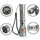 UltraFire XML-T6 Lotus Zoomable Waterproof LED Flashlight Pack - Wow Great Gifts