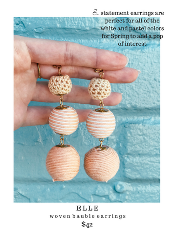 8 other reasons elle woven bauble earrings