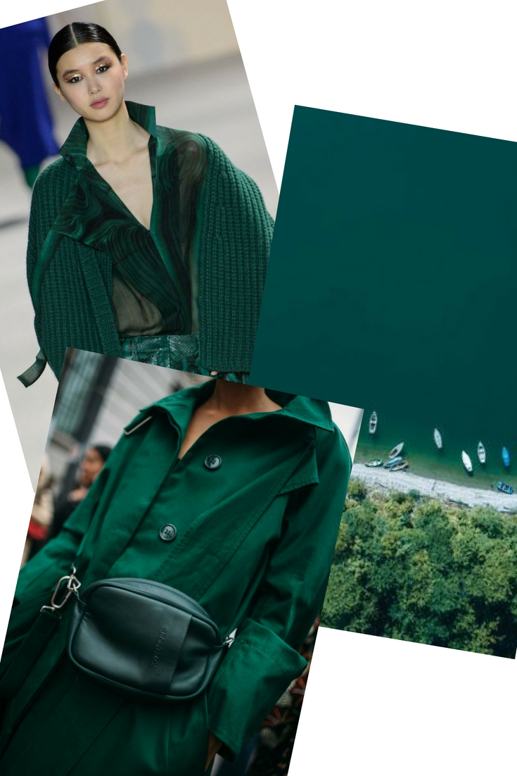 quetzal green fall 2018 mood board by cote boutique