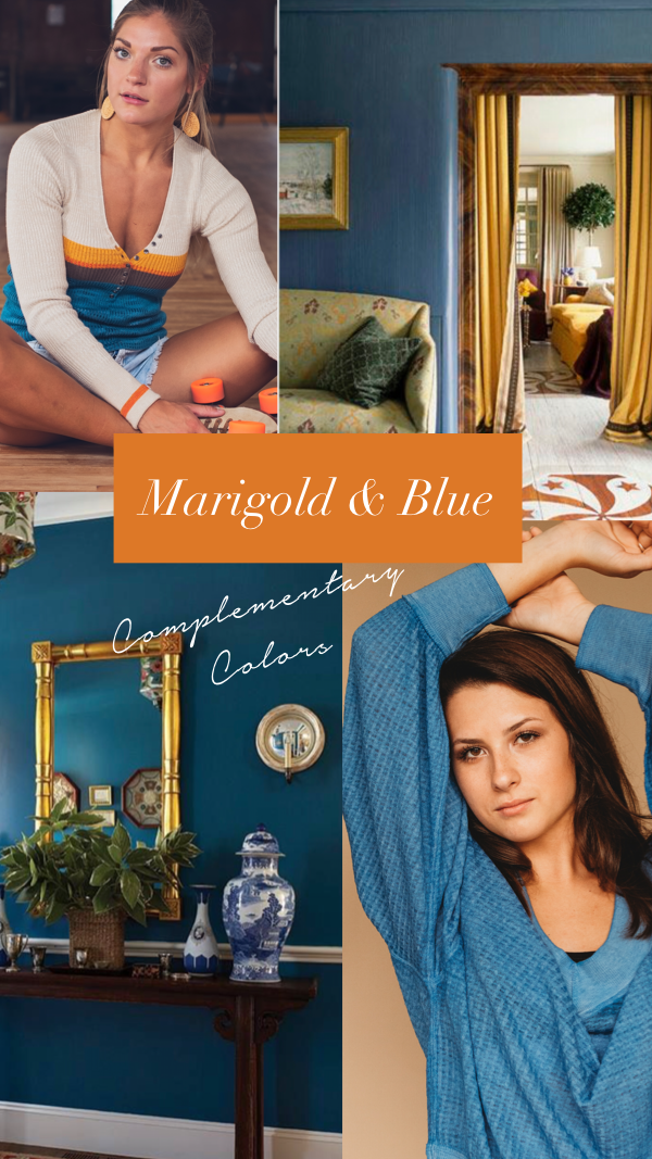 fall 2018 marigold and blue color scheme by Côte Boutique