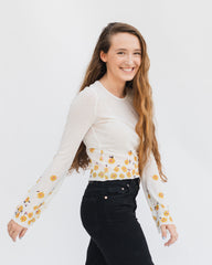 minkpink daisy mesh top at cote boutique