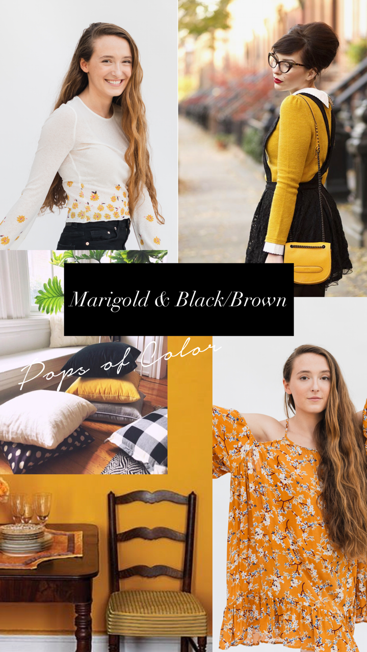 fall 2018 marigold and black styled by cote boutique