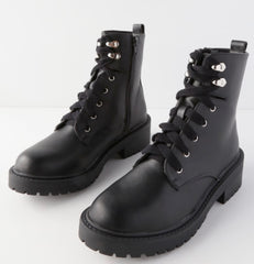 madden girl alicee black lace up combat boot styled by cote boutique
