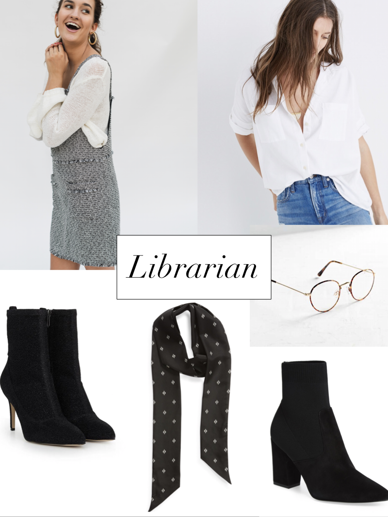 librarian inspired outfit for halloween styled by cote boutique