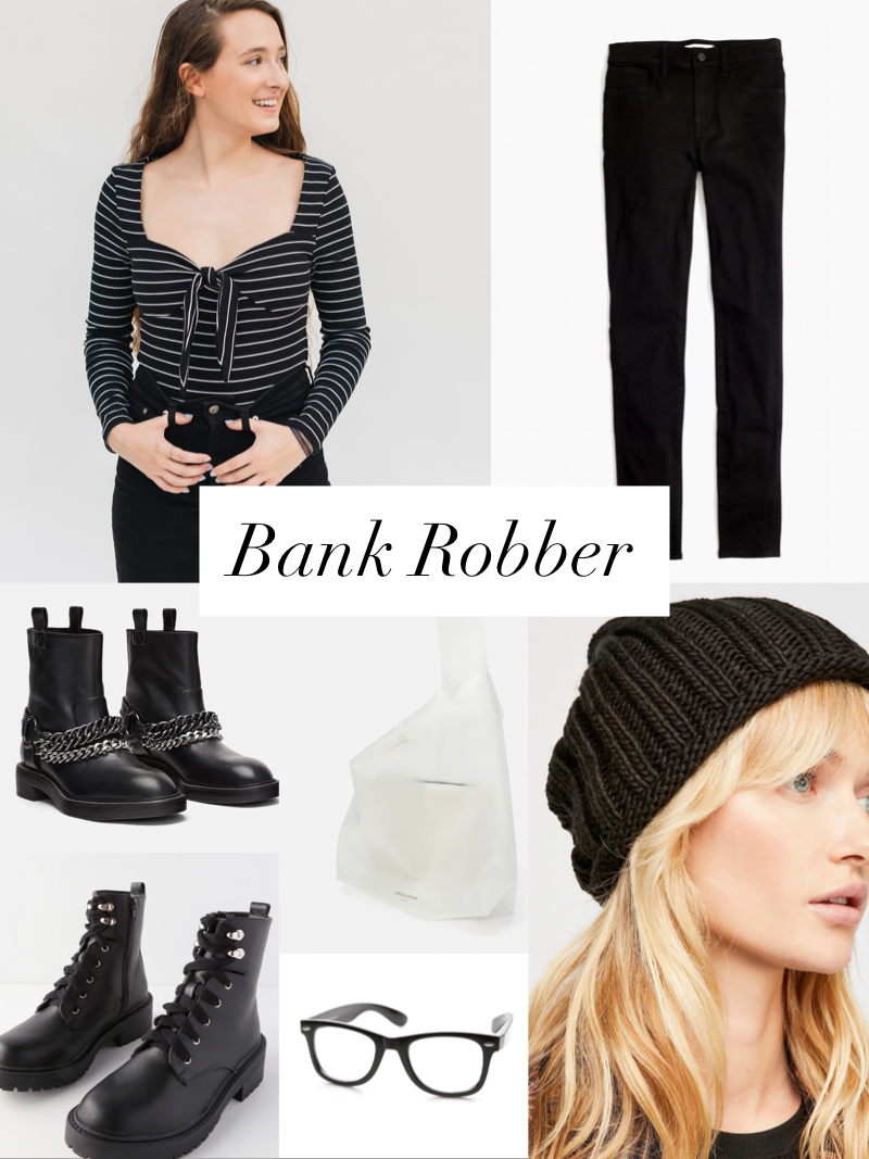 bank robber inspired outfit styled by cote boutique