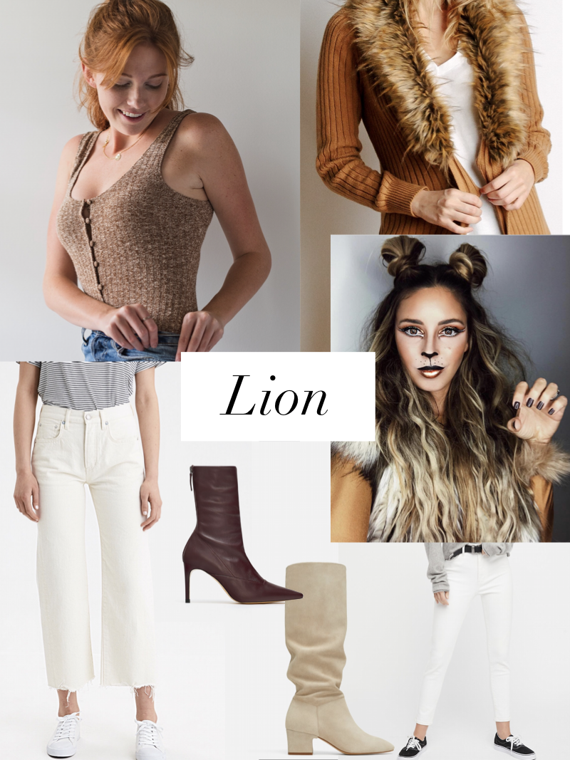 lion inspired halloween look styled by cote boutique