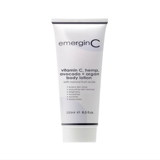 emerginC - Vitamin C, Hemp, Avocado + Argan Body Lotion, 250ml / 8.4oz