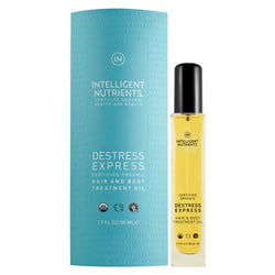 Intelligent Nutrients - Destress Express Hair and Body Oil, For Fine Hair, 1.7 oz