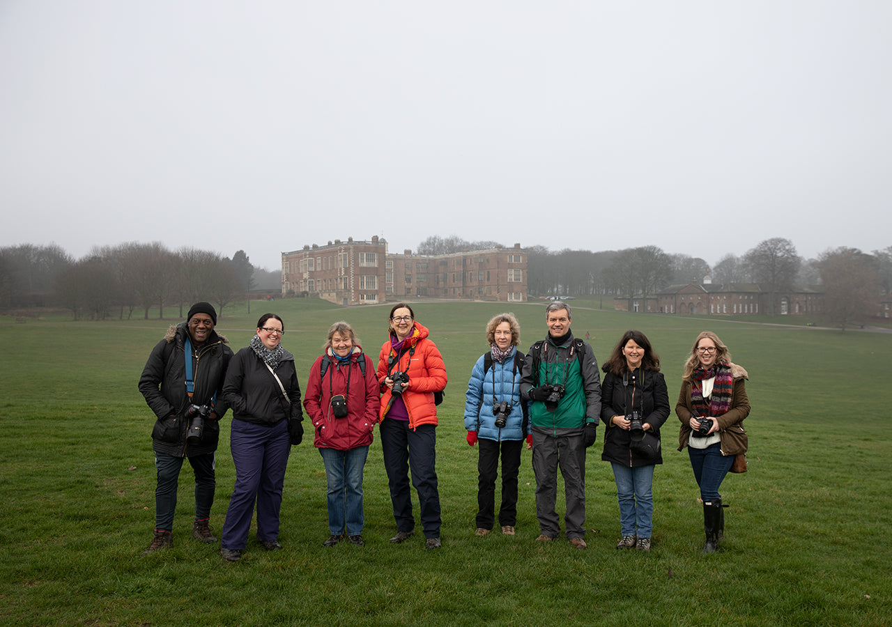 Group Photo of Photo Walkers at the Temple Newsam Social event