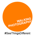 Walking Photography Logo. Branding for Photo Walks & Tours