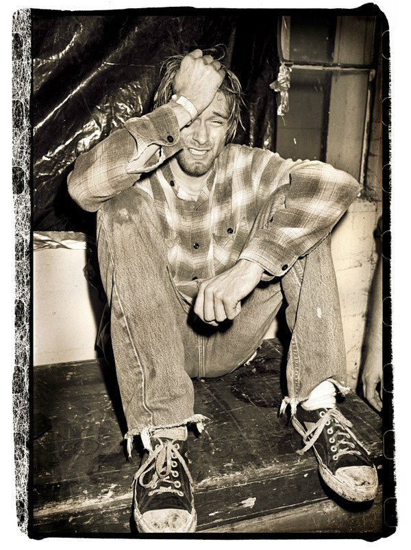 Ian Tilton, Kurt Cobain crying backstage