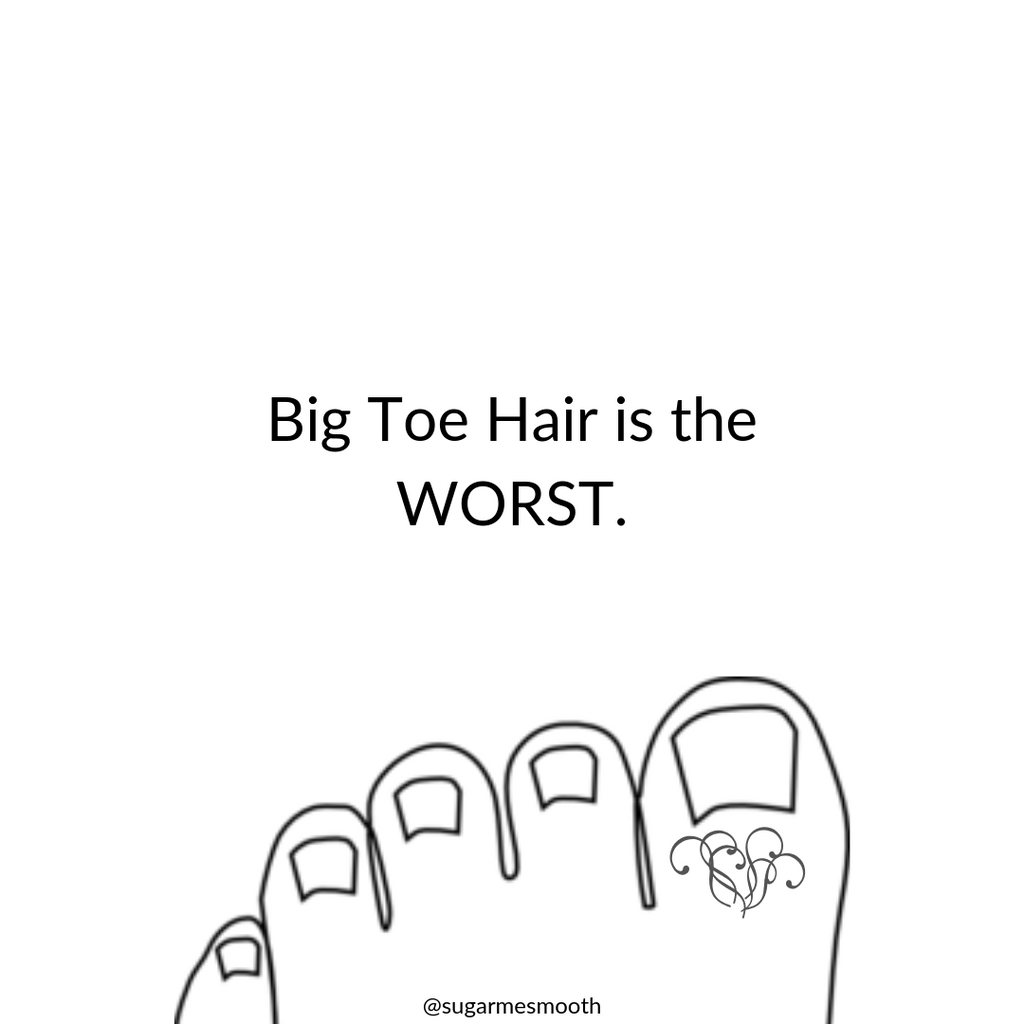 Don't let your Big Toe Hair Grow Freely Anymore!