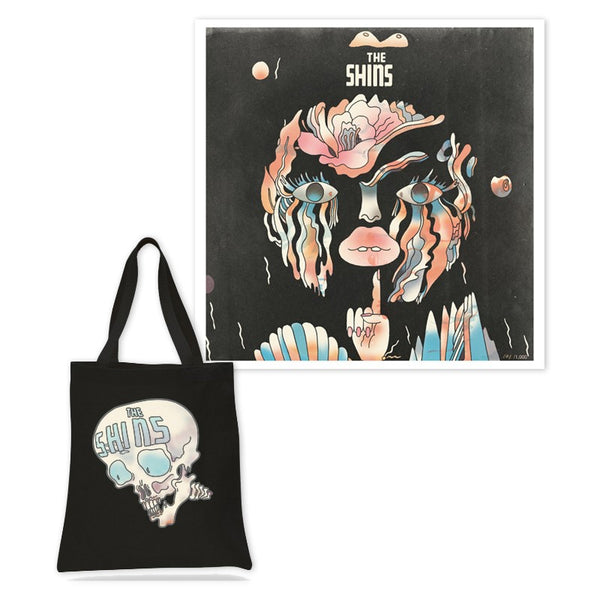 Limited Edition Lithograph & Skull Tote Bag Bundle