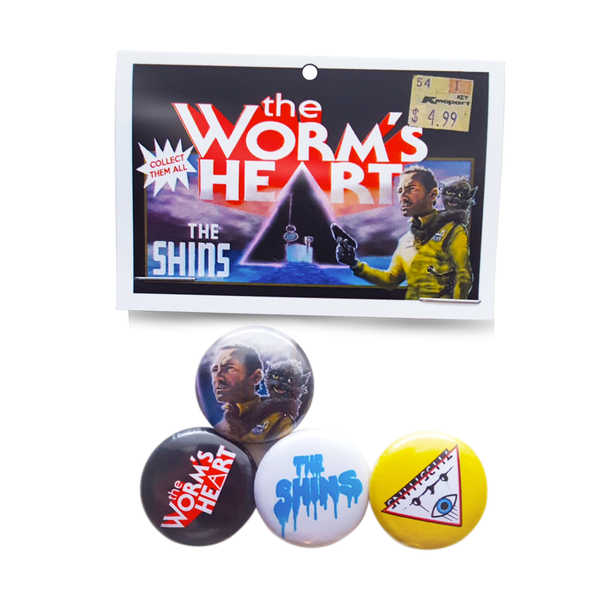 THE WORM'S HEART LIMITED EDITION BUTTON PACK