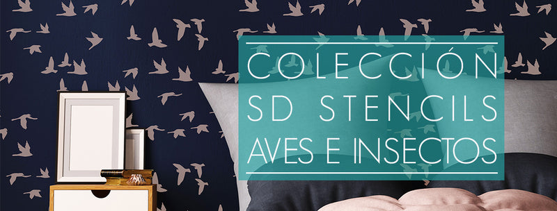 Stencils Aves e Insectos