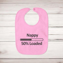 Load image into Gallery viewer, Nappy 50% Loaded Baby Bib